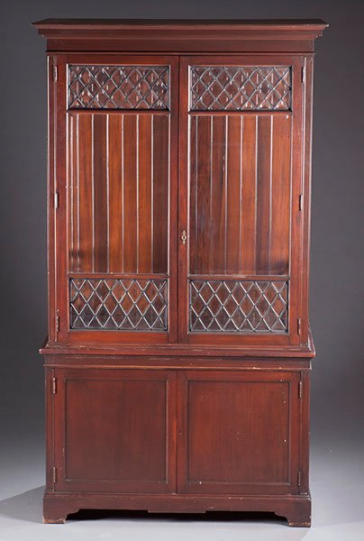 16: Modern Leaded Glass Bookcase