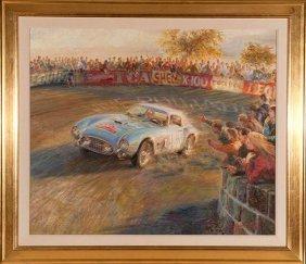 134: Alfredo de la Maria, Ferrari TDF, Oil on Canvas