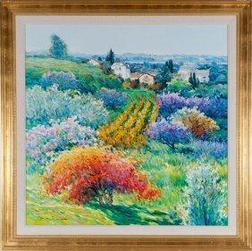 143: Malva, Toscany, Oil on Canvas, Od: 48 1/2 H x 48 1