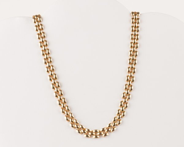 5: 14K Yellow Gold Panther Link Chain, 28.2 grams,