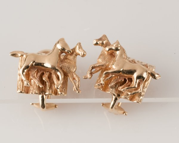 12: 14K Yellow Gold Ear Clips, 10.8 grams,