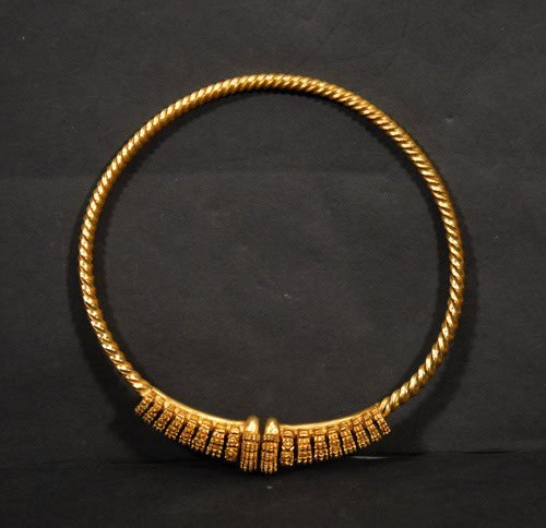 8: French Museum Replica Torc Necklace Saint-Raymond To
