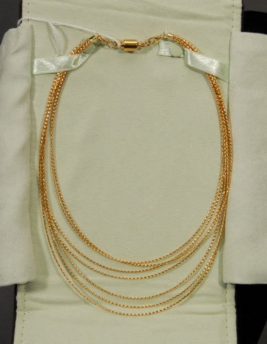 11: Ross and Simons 14 Kt. Gold Necklace Marked 14 KT a