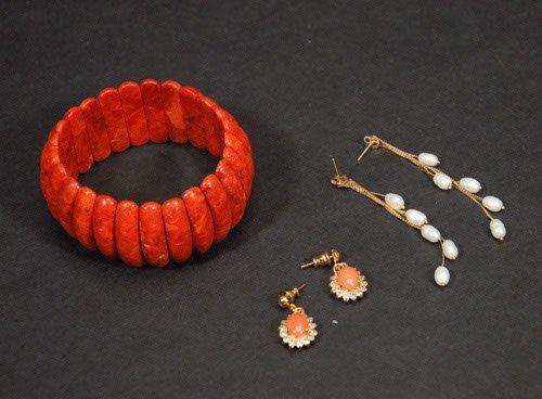 17: Lot of Jewelry To include; Cinnabar Bracelet Fresh