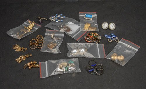 20: Tray Lot of Sterling and Gold Filled Rings and Earr