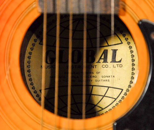 "156: Global Brand Acoustic Guitar Length: 34 3/4"" - 3"