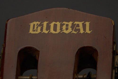"156: Global Brand Acoustic Guitar Length: 34 3/4"" - 4"