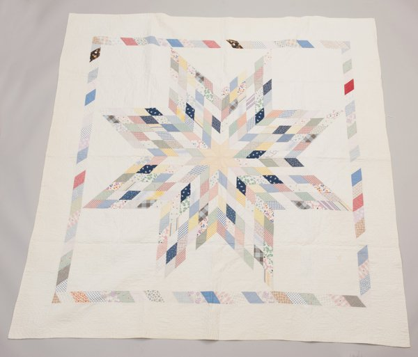 Northern Pennsylvania Piece Quilt, Early 1900's,
