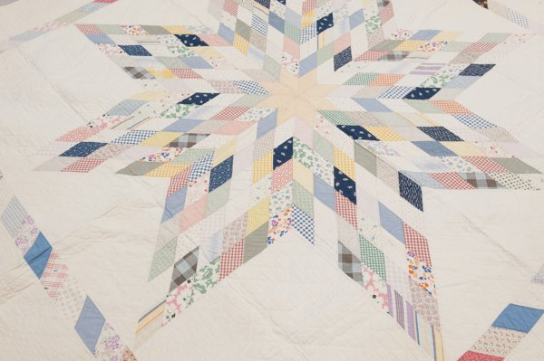 Northern Pennsylvania Piece Quilt, Early 1900's, - 2