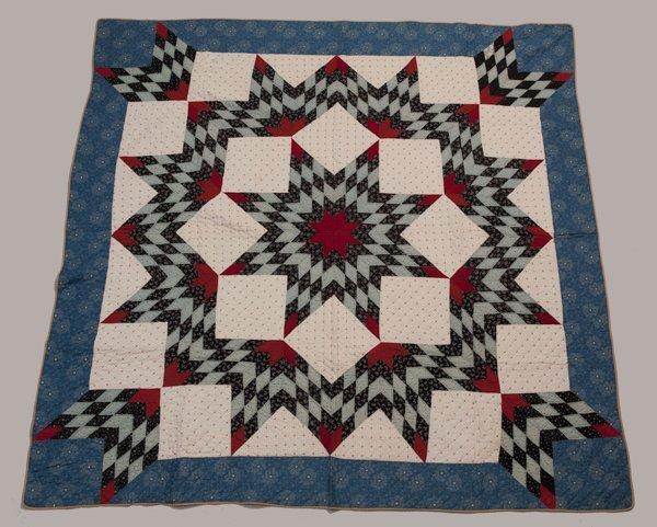 Hermann, Missouri Pieced Quilt, Ca. 1870 - 1889,