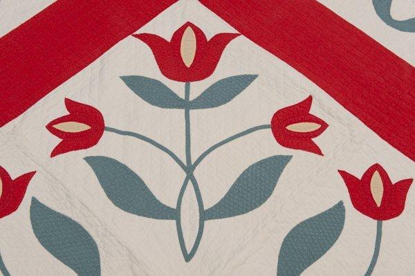 Hannibal, Missouri Appliqued Quilt, Late 1800's, - 2