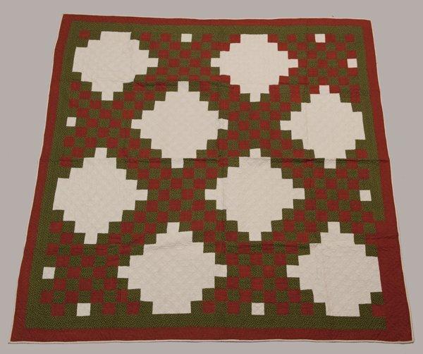 Hermann, Missouri Pieced Quilt, Mid 1800's,