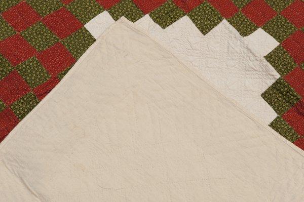 Hermann, Missouri Pieced Quilt, Mid 1800's, - 4