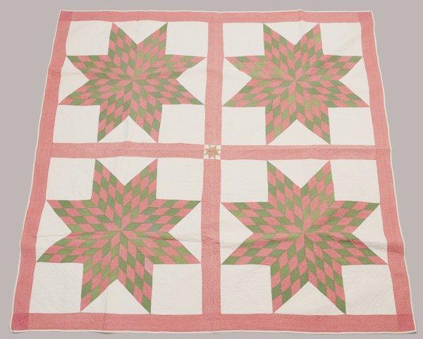 Northern Ohio Pieced Quilt, 1860's - 1870's,