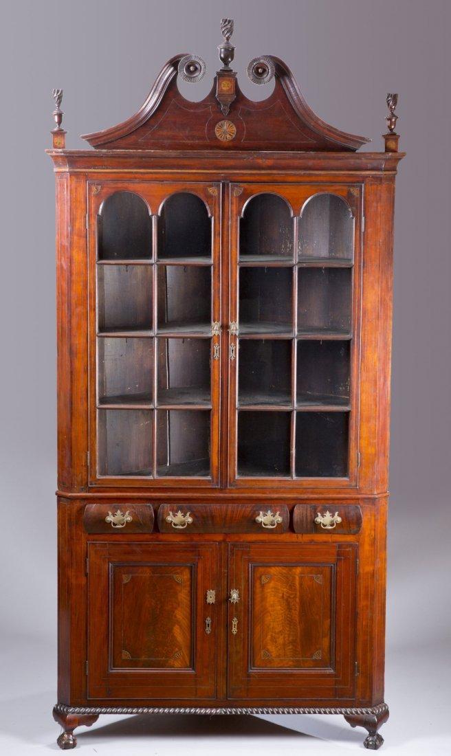 19th Century Centennial Corner Cupboard