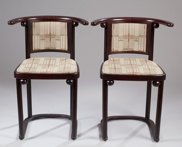 Pair of Hoffmann Fledermaus Chairs made by Wittmann
