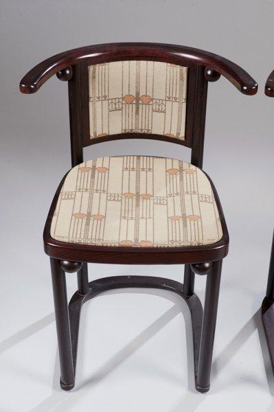 Pair of Hoffmann Fledermaus Chairs made by Wittmann - 2