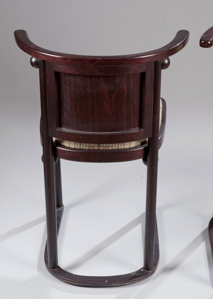 Pair of Hoffmann Fledermaus Chairs made by Wittmann - 4