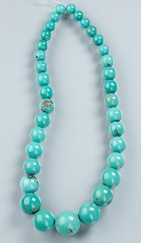 Strand of Graduated Turquoise Beads