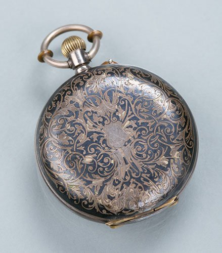 Ladies Sterling Silver Pocket Watch,