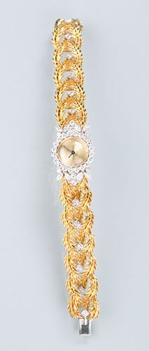 Lady's 18k Gold and Diamond Blancpain 17 Jewels Wrist W