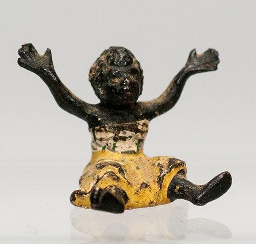 Miniature Black Lead Figure