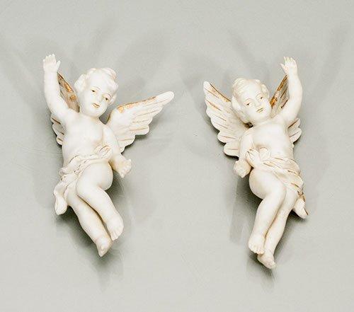 Pair of Porcelain Cherubim Figures