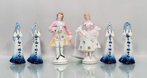 Six (6) Ceramic Figurines