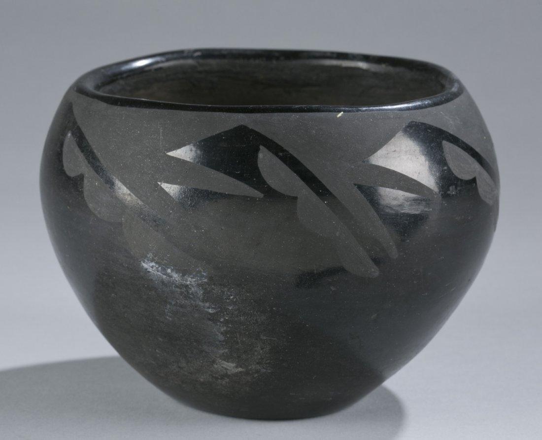 Possibly Native America or Santa Clara Black Pottery Bo