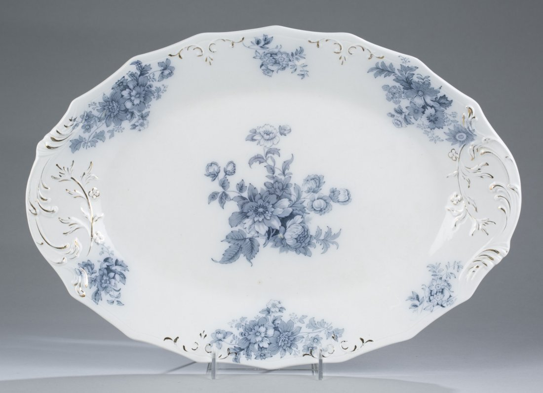 Chatsworth Blue and White Platter and B.W.M. & Co, Flor
