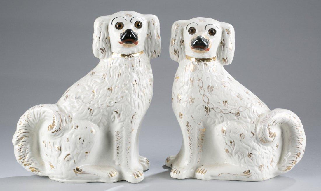 Pair of 19th Century Staffordshire Spaniels