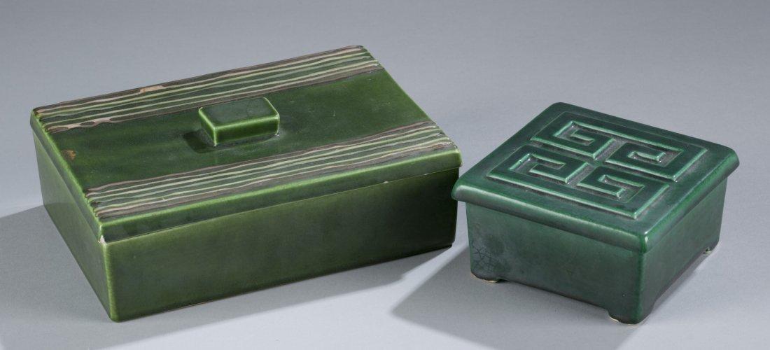 Two (2) Ca. 1950 California Ceramic Jewelry Boxes