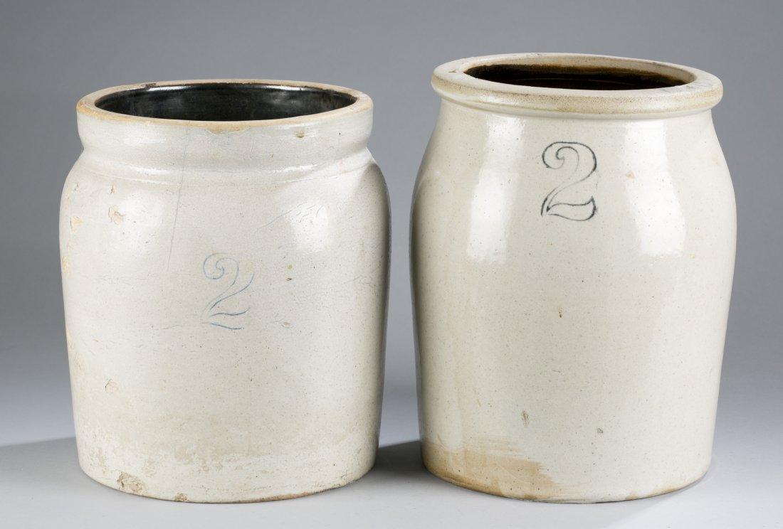 Group of Three Stoneware Handled Jugs