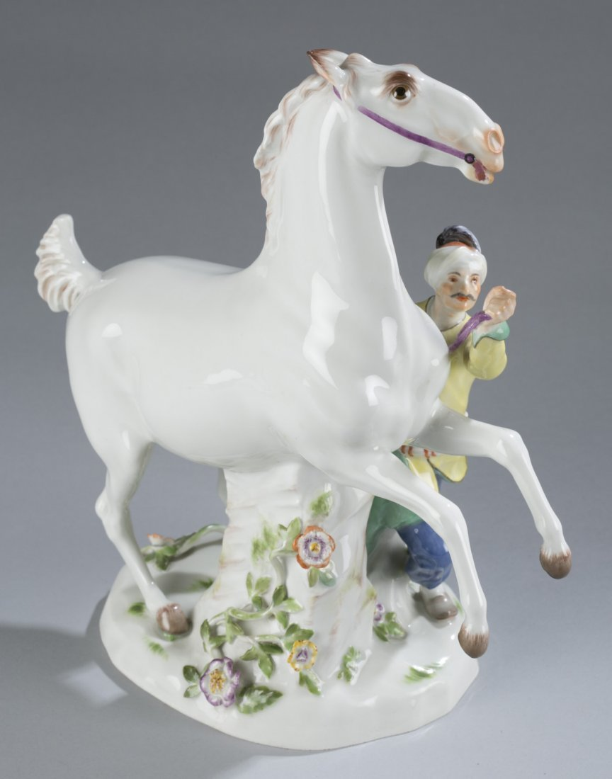 Horse and Groom Meissen Figurine