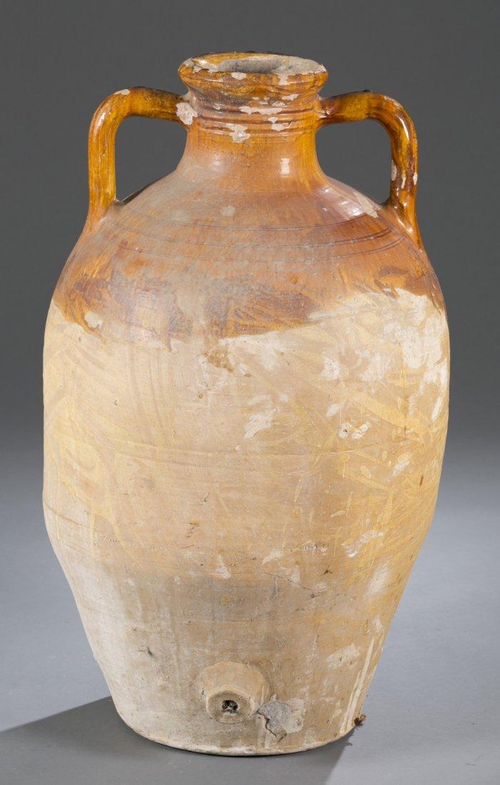 Large 20th Century Ceramic Amphora Form Vase