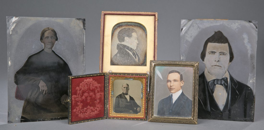 Lot of 5 Photographs including Tintype, Daguerreotype a