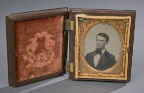 Tin- Type Photograph in Case