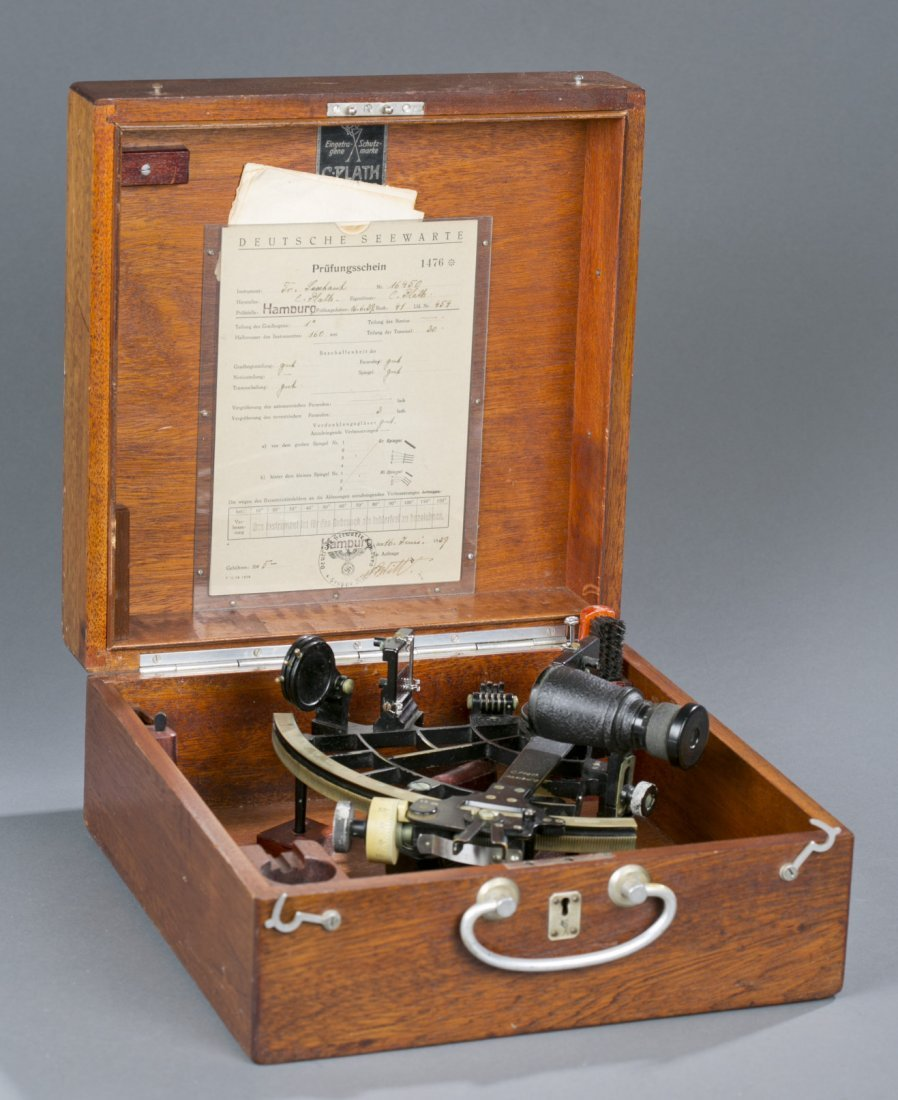 Exceptional WWII German Navy Cased Sextant Fine to exce - 2