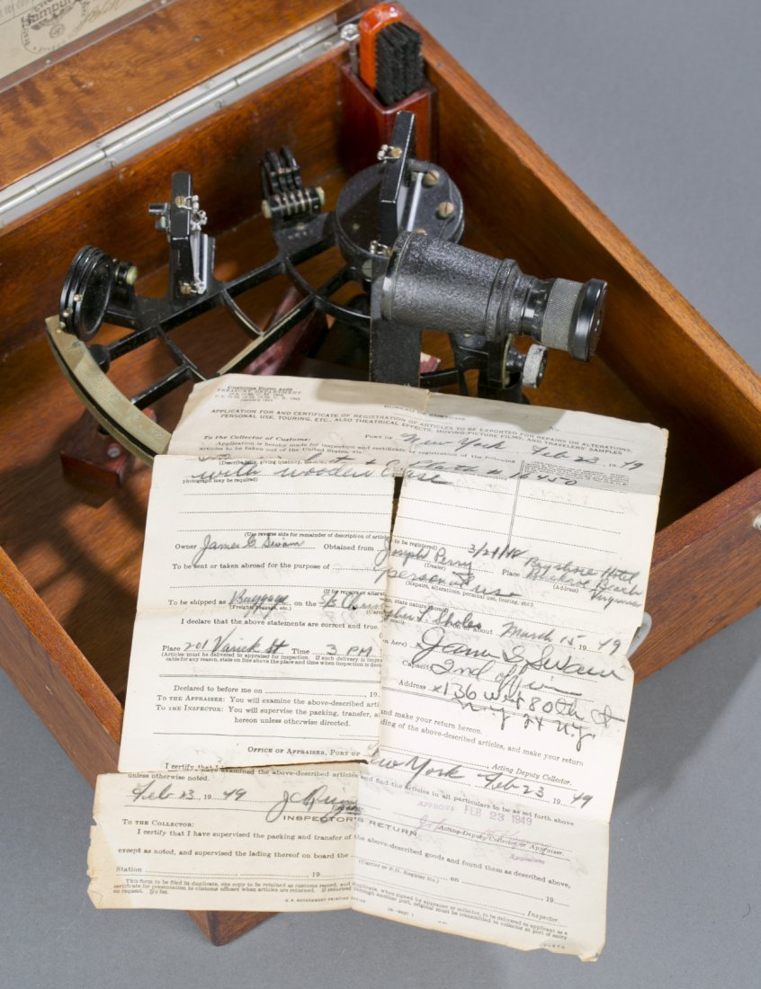 Exceptional WWII German Navy Cased Sextant Fine to exce - 5