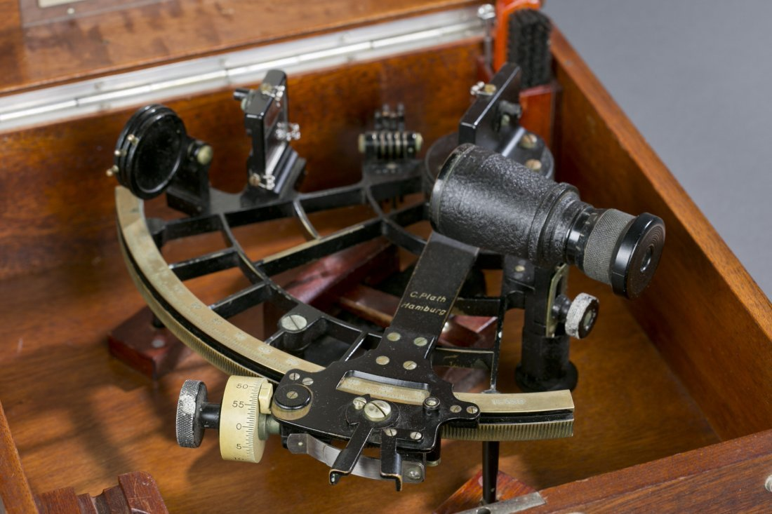 Exceptional WWII German Navy Cased Sextant Fine to exce - 6