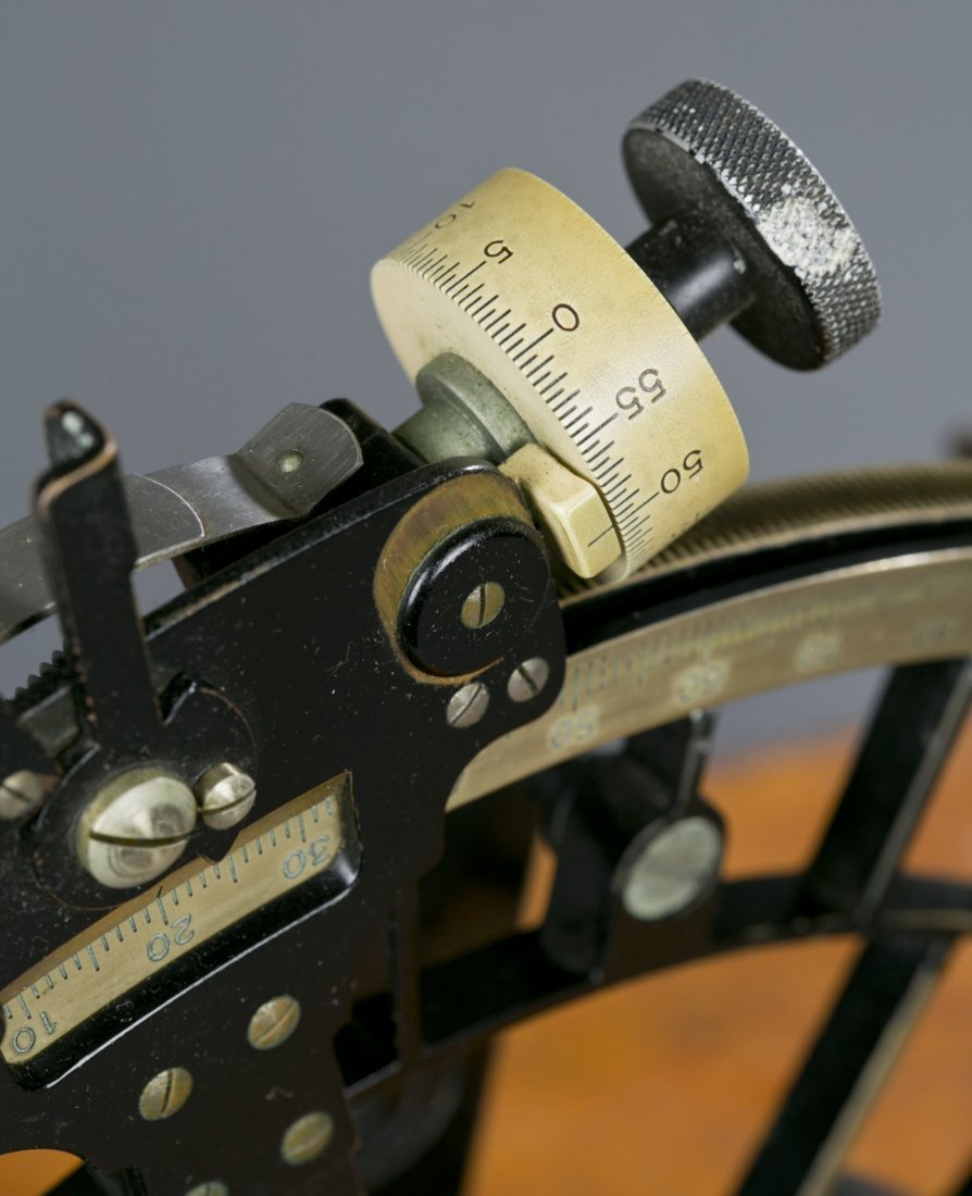 Exceptional WWII German Navy Cased Sextant Fine to exce - 8