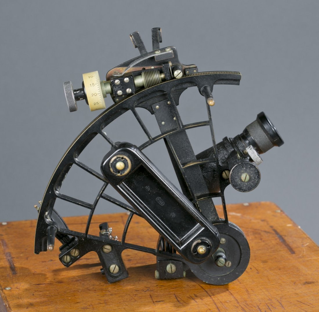 Exceptional WWII German Navy Cased Sextant Fine to exce - 9