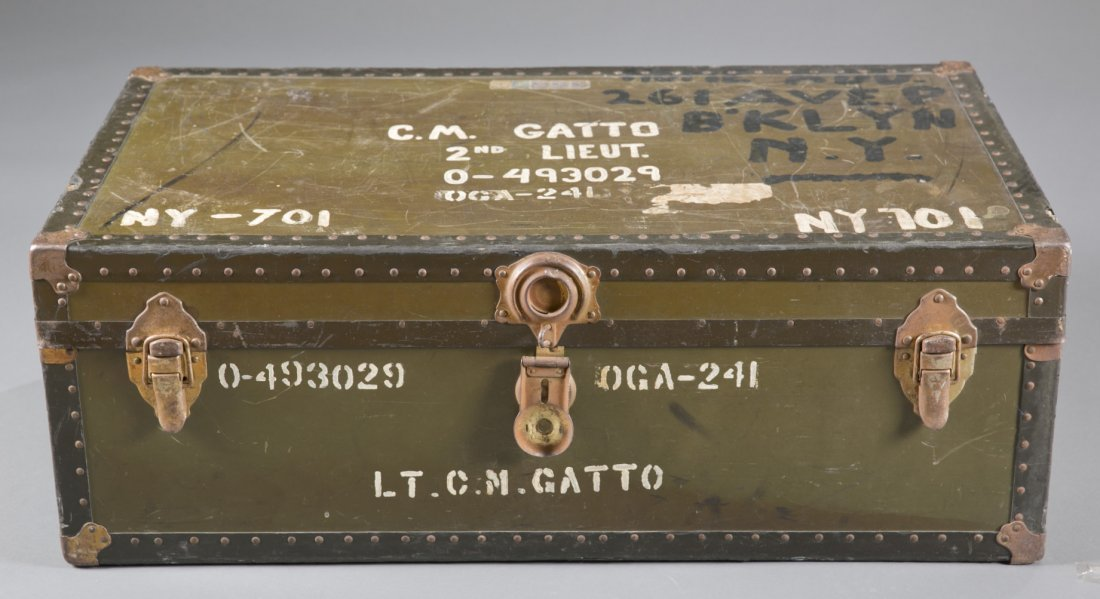 WWII US Army Officer's Footlocker with Contents
