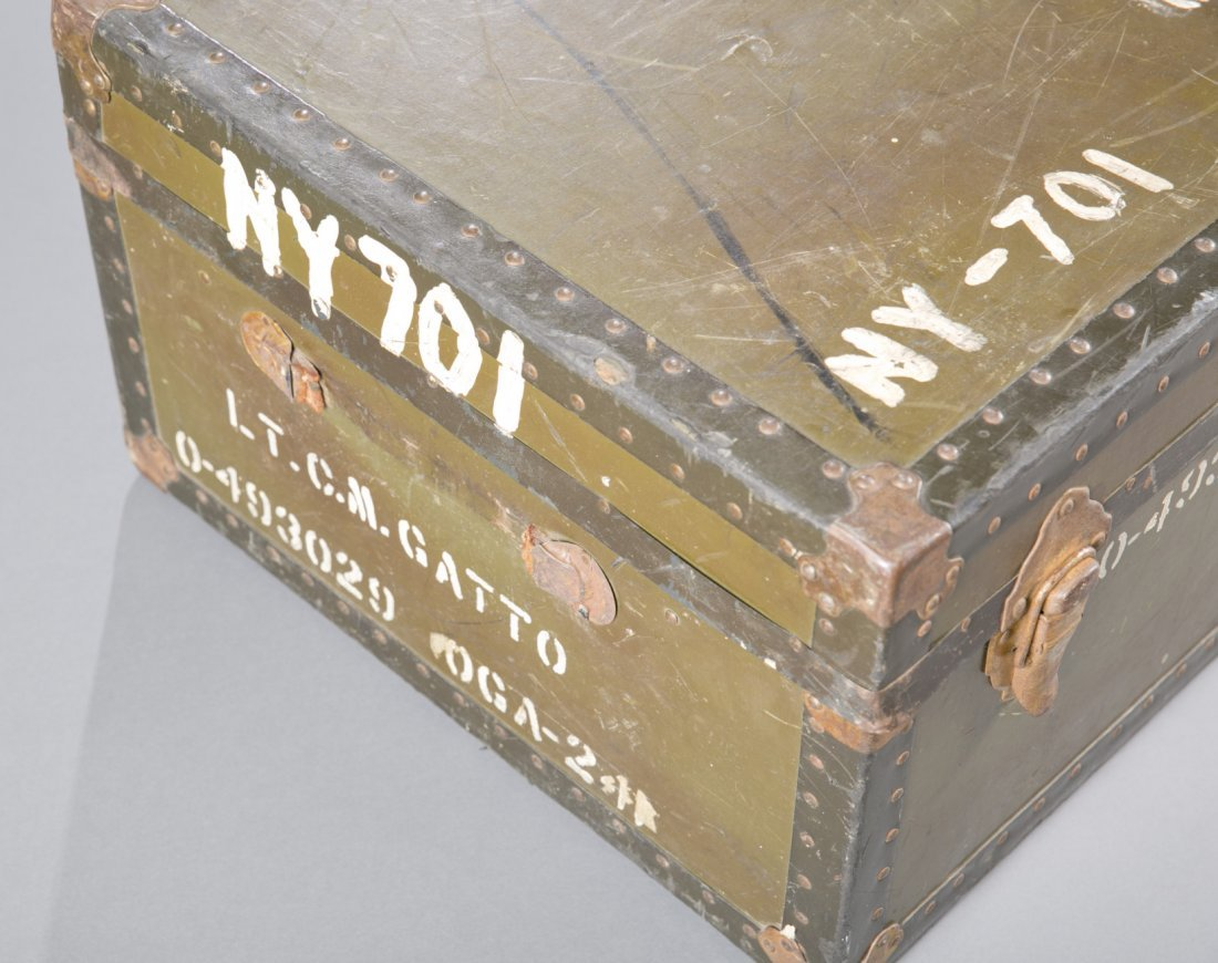 WWII US Army Officer's Footlocker with Contents - 3