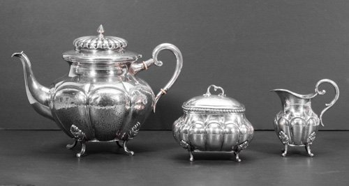 Christian F. Heise, Norwegian 830 Silver Tea Pot, Sugar