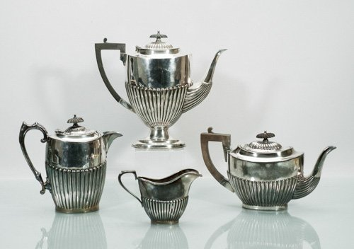 Harrison Fisher Reeded EPBM Sheffield Silver Plated Par