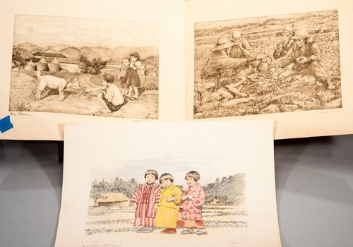 Three Japanese Engravings, pencil signed W. Seiler (Wil