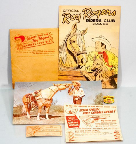 Original - 1952 Roy Rogers Riders Club Kit