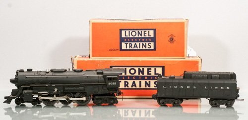 Lionel Locomotive with Smoke Chamber No. 2055 and Tende