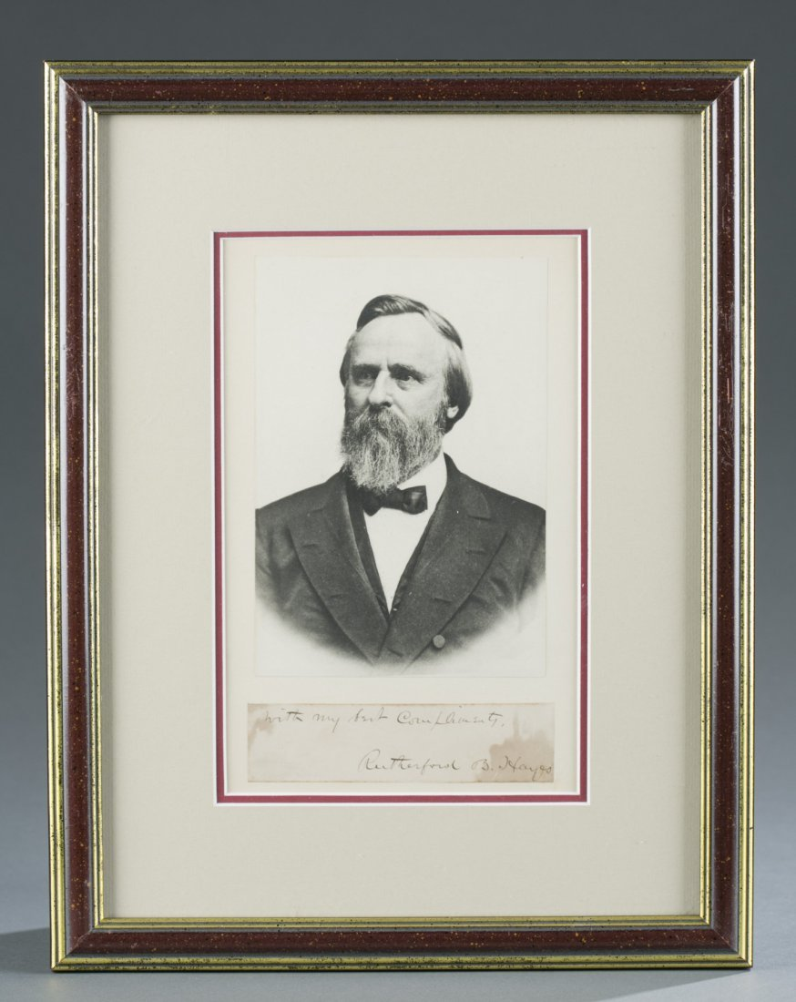 Rutherford B. Hayes Print and Signature